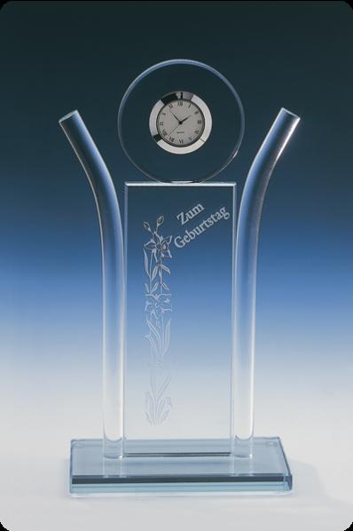 Symetryczna plakieta zegar