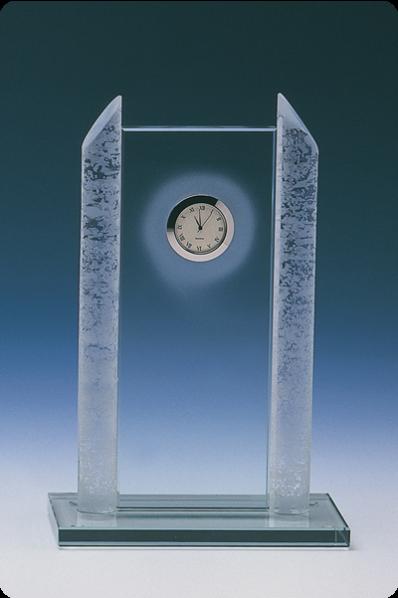 Symetryczna plakieta zegar z filarami