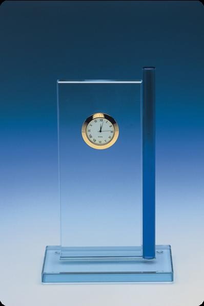 Plakieta zegar z niebieskim szkłem