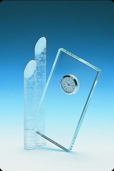 Zegar szklany z kolumnami