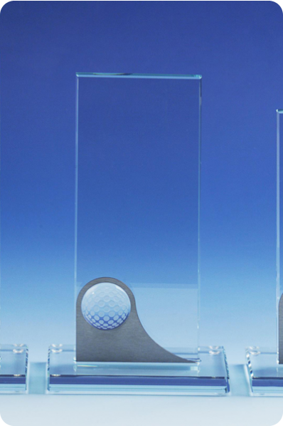 Statuetka plakietka z piłką golfową