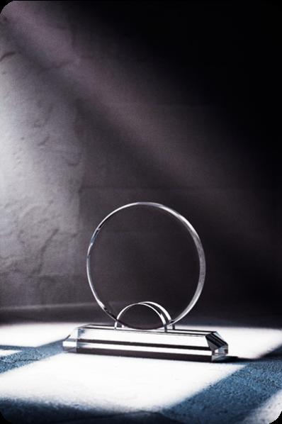Okrągła statuetka plakietka