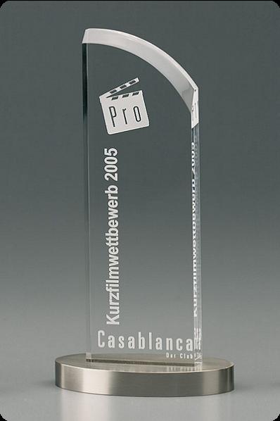 Puchar szklana plakieta