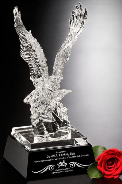 Statuetka szklana - Orzeł