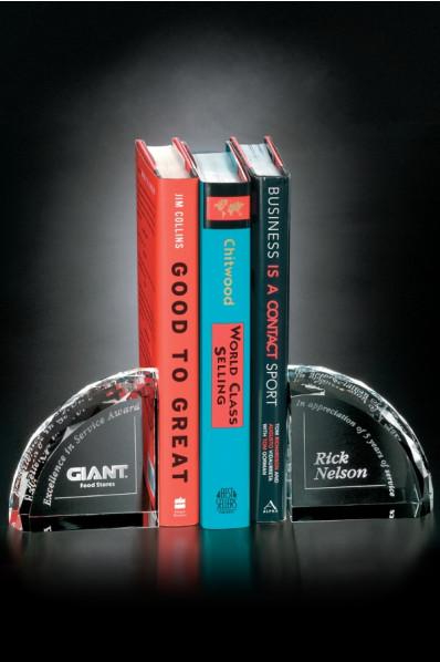 Szklana podpórka do książek