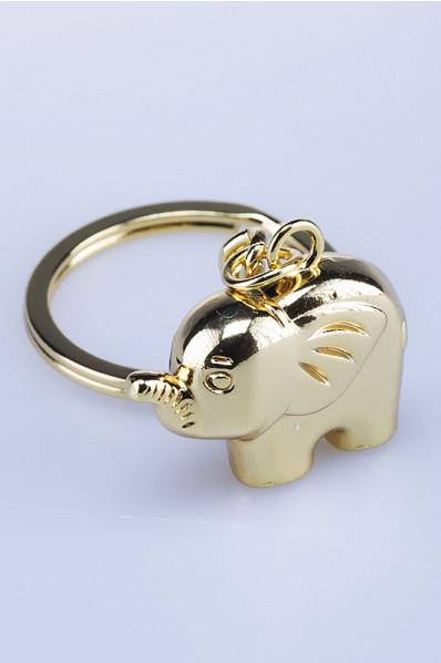 Brelok Słoń z uniesioną trąbą