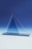 Trójkątna plakieta piramida