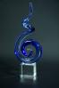 Artystyczna spirala szklana