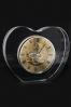 Szklany masywny zegar